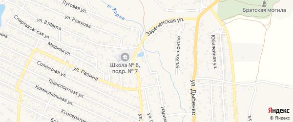 Речной переулок на карте Новозыбкова с номерами домов