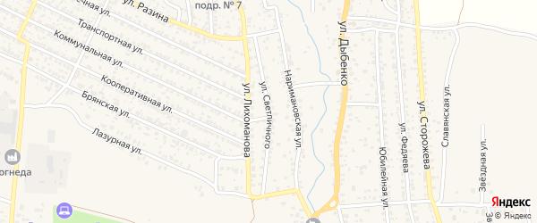 Улица Светличного на карте Новозыбкова с номерами домов
