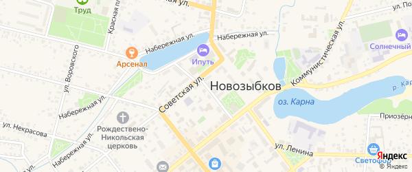 Улица Карла Маркса на карте Новозыбкова с номерами домов