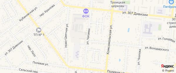 Улица Чапаева на карте Новозыбкова с номерами домов