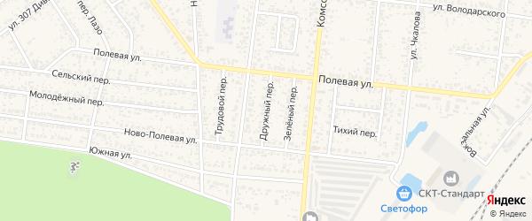 Дружный переулок на карте Новозыбкова с номерами домов