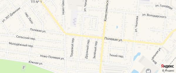 Полевая улица на карте Новозыбкова с номерами домов