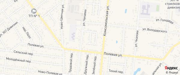 Комсомольский переулок на карте Новозыбкова с номерами домов