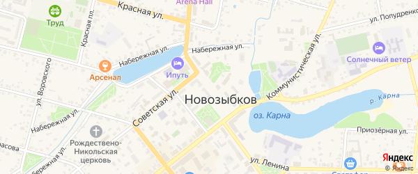 Площадь Октябрьской революции на карте Новозыбкова с номерами домов