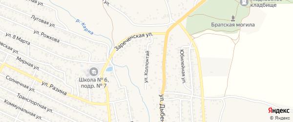 Улица Коллонтай на карте Новозыбкова с номерами домов