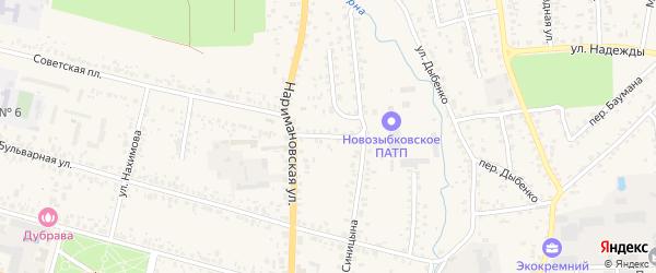 Наримановский переулок на карте Новозыбкова с номерами домов