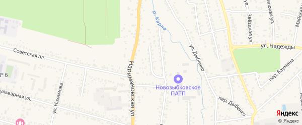 Людковский переулок на карте Новозыбкова с номерами домов