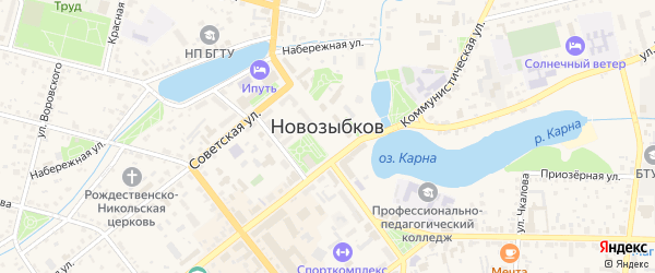 Территория ЖСК N9 на карте Новозыбкова с номерами домов