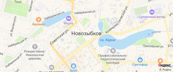 Территория сдт Автомобилист на карте Новозыбкова с номерами домов