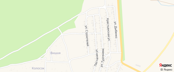 Улица Строителей на карте Новозыбкова с номерами домов