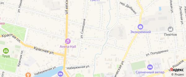 Нижний переулок на карте Новозыбкова с номерами домов