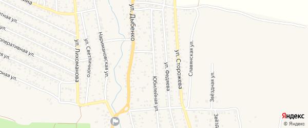 Юбилейная улица на карте Новозыбкова с номерами домов