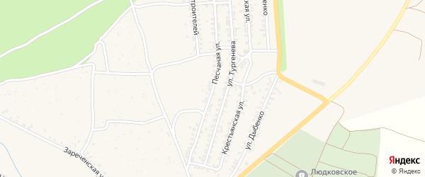 Песчаная улица на карте Новозыбкова с номерами домов