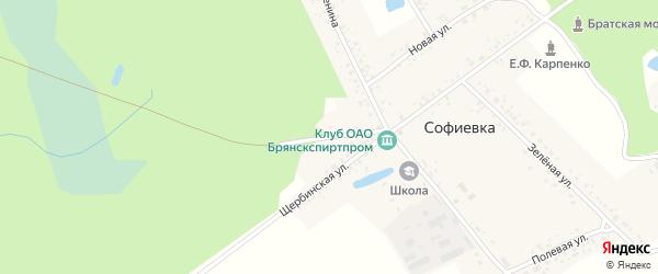 Злынковская улица на карте поселка Софиевки с номерами домов