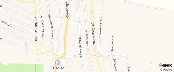 Улица Федяева на карте Новозыбкова с номерами домов