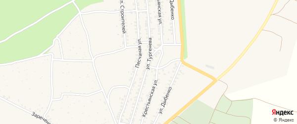 Улица Тургенева на карте Новозыбкова с номерами домов