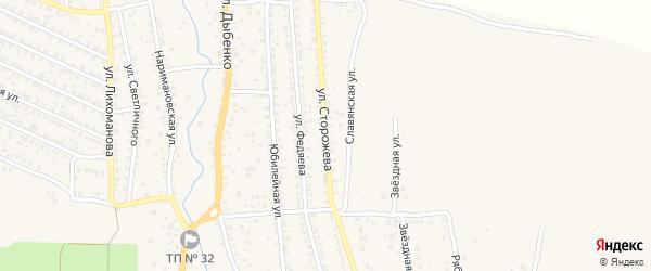 Улица Сторожева на карте Новозыбкова с номерами домов