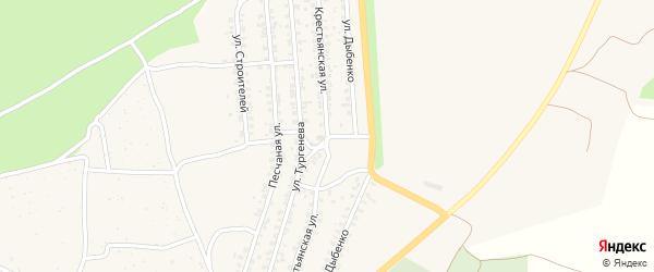 Крестьянская улица на карте Новозыбкова с номерами домов
