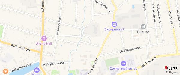 Пионерский переулок на карте Новозыбкова с номерами домов