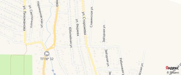Славянская улица на карте Новозыбкова с номерами домов