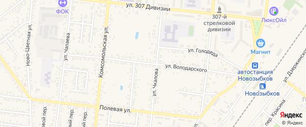 Улица Володарского на карте Новозыбкова с номерами домов