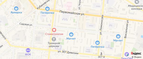 Садовая улица на карте Новозыбкова с номерами домов