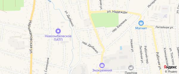 Переулок Жданова на карте Новозыбкова с номерами домов