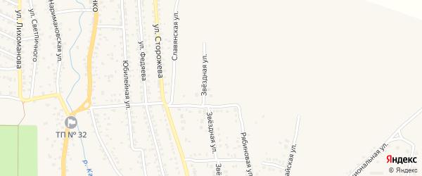 Звездная улица на карте Новозыбкова с номерами домов