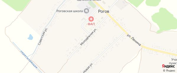 Молодежная улица на карте села Рогова с номерами домов