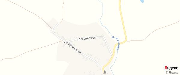 Кольцевая улица на карте деревни Завода-Корецкого с номерами домов