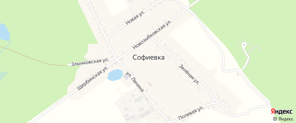 Улица Лесничество на карте поселка Софиевки с номерами домов