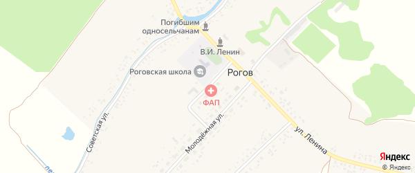 Школьная улица на карте села Рогова с номерами домов