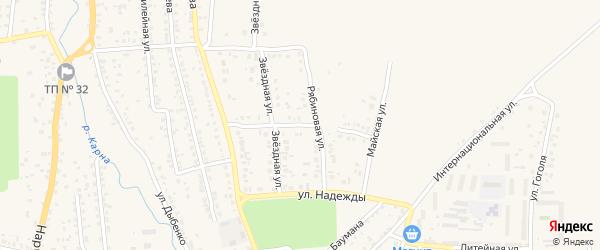 Петровская улица на карте Новозыбкова с номерами домов