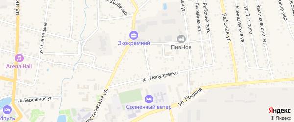 Переулок Калинина на карте Новозыбкова с номерами домов
