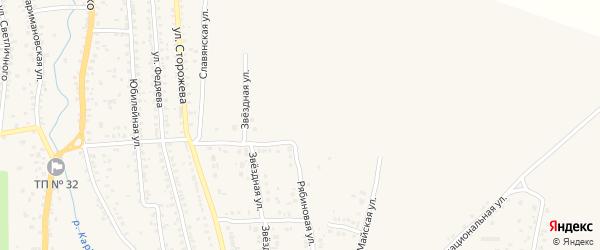 Рябиновая улица на карте Новозыбкова с номерами домов