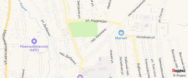 Переулок Баумана на карте Новозыбкова с номерами домов
