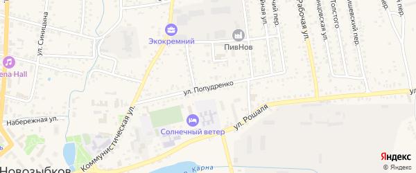 Улица Попудренко на карте Новозыбкова с номерами домов