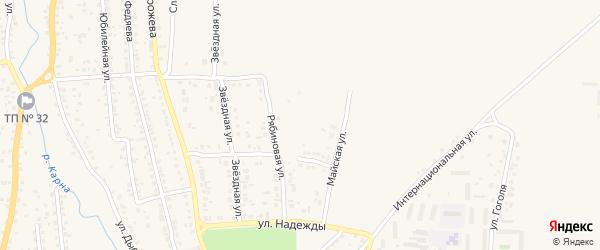 Рябиновый проезд на карте Новозыбкова с номерами домов