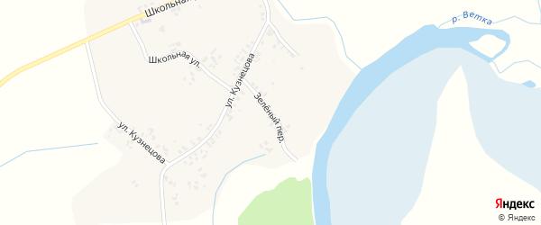 Зеленый переулок на карте деревни Завода-Корецкого с номерами домов