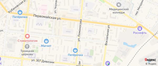 Улица Ломоносова на карте Новозыбкова с номерами домов