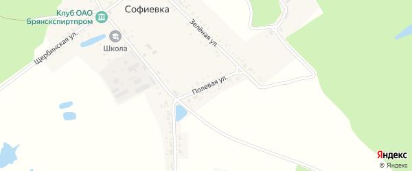 Полевая улица на карте поселка Софиевки с номерами домов