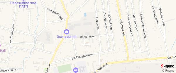 Верхняя улица на карте Новозыбкова с номерами домов