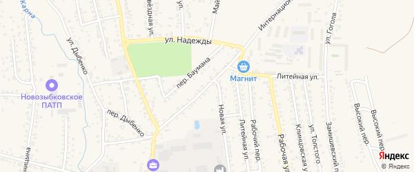 Интернациональная улица на карте Новозыбкова с номерами домов