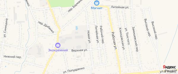 Новая улица на карте Новозыбкова с номерами домов
