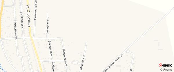 Майская улица на карте Новозыбкова с номерами домов