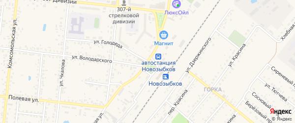 Вокзальная улица на карте Новозыбкова с номерами домов