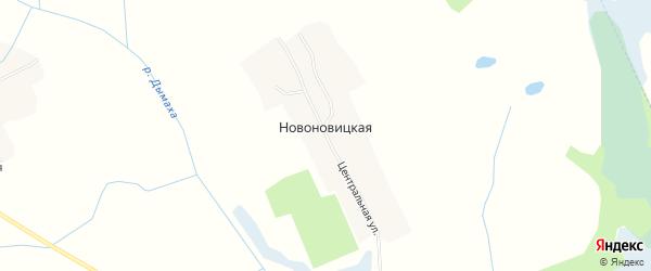 Карта Новоновицкой деревни в Брянской области с улицами и номерами домов