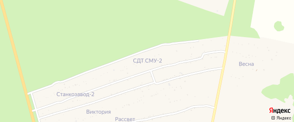 Территория сдт СМУ-2 на карте Новозыбкова с номерами домов