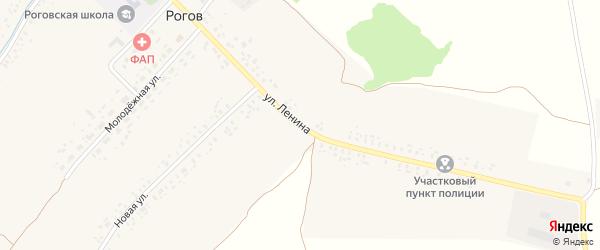 Улица Ленина на карте села Рогова с номерами домов
