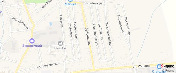 Рабочая улица на карте Новозыбкова с номерами домов
